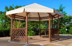 Wooden arbor awning