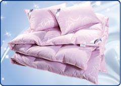 Подушки и одеяло пух перо. Коллекция Гармония