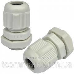 Пластиковый кабельный ввод, диам.-4-8мм, PG-9