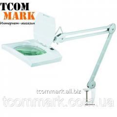 Лупа-лампа на струбцине, люминисцентная подсветка
