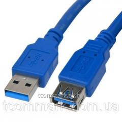 Шнур USB, штекер А - гнездо А, Vers. 3.0,