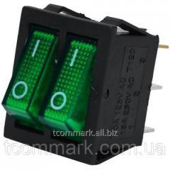 Переключатель двойной с подсветкой IRS-2101-1