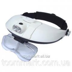 Лупа бинокулярная MG81001-G налобная с LED