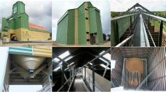 Granaries of elevator type, from the producer