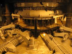 Opening closing complex letok of blast furnaces