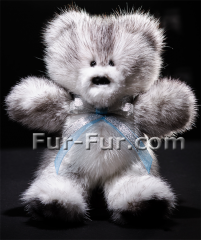 Toys for girls. Bear Stéphane, soft from a mink,