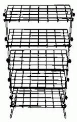 Stand exhibition five-half-internal folding