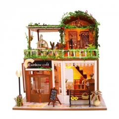 3D Интерьерный конструктор Midesize Diy Doll House Rainbow cafe SKL25-223348