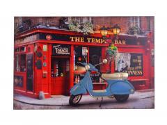 3D картина Мопед синий с Led подсветкой SKL11-208458