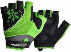 Велорукавички PowerPlay 5281 A Зелені S SKL24-144516