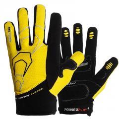 Велорукавички PowerPlay 6556 Жовті XL SKL24-144497