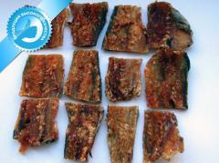Amber small fish with pepper salted-dried