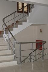 Перила лестничные, ограждения балконные