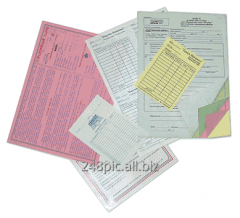 Account books, forms, forms of the strict