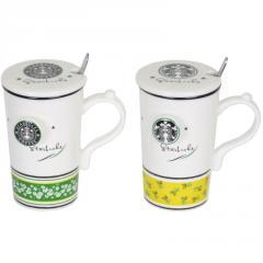 Кружка с ложечкой Starbucks SKL11-208160