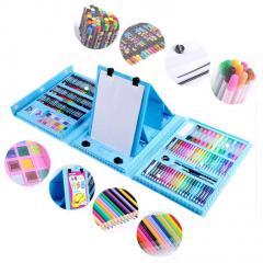 Набор для рисования с мольбертом в чемоданчике Art Set Blue SKL25-238152