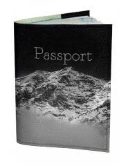 Обложка для паспорта DM 0202 Горная даль черная