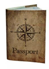 Обложка для паспорта DM 0202 Роза ветров