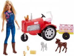 Кукла Барби Фермер на тракторе Barbie Doll and
