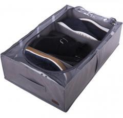 Органайзер для хранения сапог и демисезонной обуви со съемными перегородками Organize серый KHV3-grey SKL34-222102