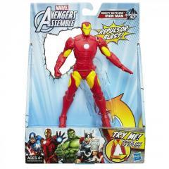 Подвижная фигурка Железный Человек 15 см - Iron Man, Avengers, Assemble, Squeeze Legs, Hasbro SKL14-143170
