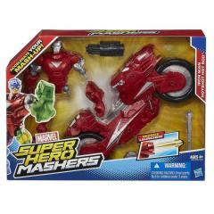 Разборная фигурка Железный человек с мотоциклом, Iron Man Hot-Shot Hot Rod,Mashers,Marvel,Hasbro SKL14-138255