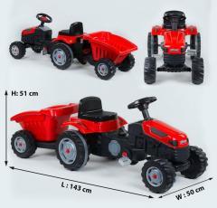Трактор педальный с прицепом 07-316