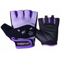 Рукавички для фітнесу PowerPlay 3492 Чорно-Фіолетові M SKL24-144450