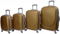 Набор чемоданов 4 штукидорожный пластиковый на 4