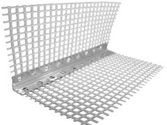 Corner (aluminum) perforated with a grid