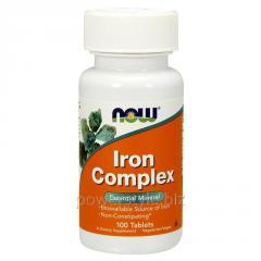 Минералы NOW Foods, Iron Complex, 100 таблеток