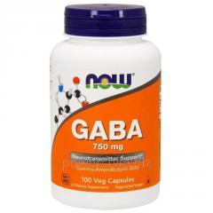Аминокислота NOW Foods, GABA, 750 мг, 100 капсул