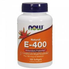 Витамины NOW Foods, Natural E-400 с Селеном, 100