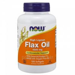 Витамины NOW Foods, High Lignan Flax Oil, 1000 мг,