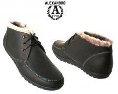 Полуботинки зимние мужские, обувь оптом по всей