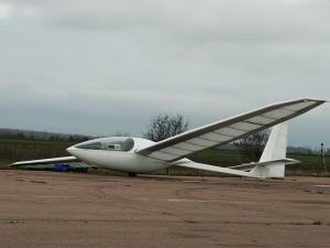 Extralight motor-glider of AS-21