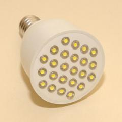 Лампа с цоколем Е 14-1, 24 светодиода