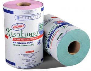 Полотенца бумажные на гильзе с перфорацией