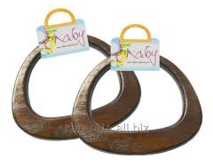 Wooden handles for bags in various variations and