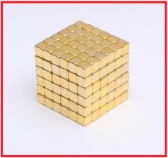 Золотой Неокуб 216 кубиков. 5мм. Магнитные кубики.