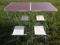 Раскладной стол для пикника с стульями + 4 стула.