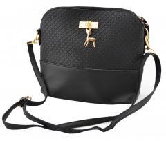 Модная женская сумка Бэмби Черная