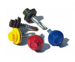 The roofing self-tapping screw with the drill for