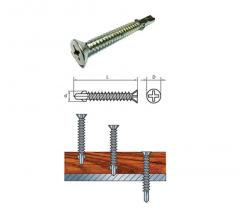 For threw the self-tapping screw with the drill a