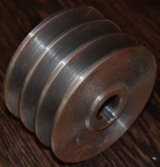 Шкив 3-х ручейковый (профиль А) 19мм внутренний;