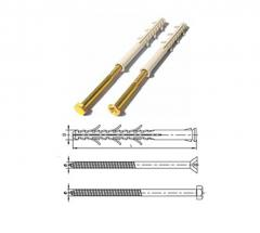 The expansion bolt shield frame expansion with a