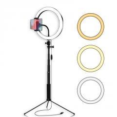 Кольцевая LED лампа 26 см селфи-палка-штатив 127
