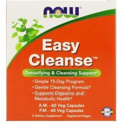 Растительный препарат NOW Foods, Easy Cleanse, 120 капсул (AM 60 капсул + PM 60 капсул)