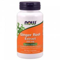 Растительный препарат NOW Foods, Ginger Root Extract, 250 мг, 90 капсул