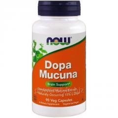 Растительный препарат NOW Foods, DOPA Mucuna, 90 капсул
